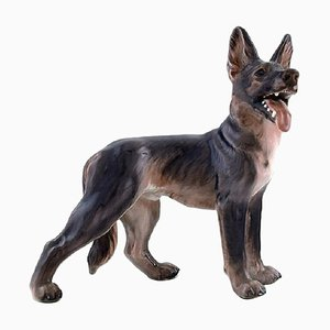 Dahl Jensen Porcelain Figurine of a German Shepherd Model Number 1089