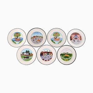Villeroy & Boch Naif Dinner Service in Porcelain, Set of 7