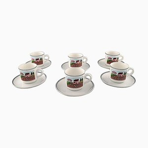Villeroy & Boch Naif Coffee Service in Porcelain, Set of 12
