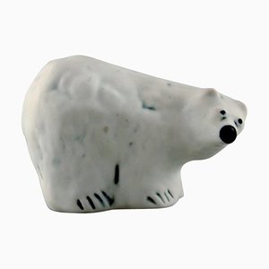 Unique Polar Bear in Ceramic by Henrik Allert for Pentik, Finland, Late 1900s