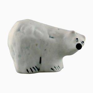 Vintage Ceramic Polar Bear Figurine by Henrik Allert for Pentik, Finland