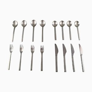 Georg Jensen Stainless Steel New York Complete Set, Set of 16