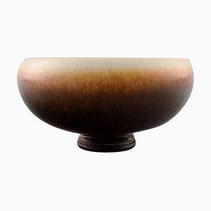 Berndt Friberg Studio Ceramic Bowl in Modern Swedish Design, 1968