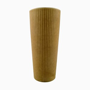 Large Rörstrand Ritzi Ceramic Vase in Fluted Style, Sweden, 1960s