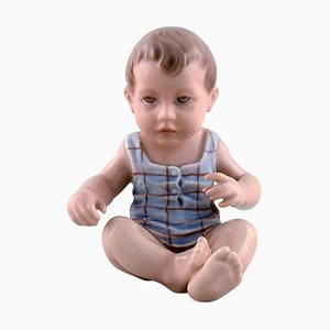 Dahl Jensen Porzellanfigur Baby Boy Modellnummer 1105, 1920er