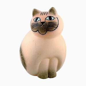 Lisa Larson für K-Studion & Gustavsberg Katze aus glasierter Keramik, 20. Jahrhundert