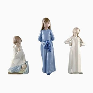 Porcelain Figures by Nao and Lladro, Set of 3