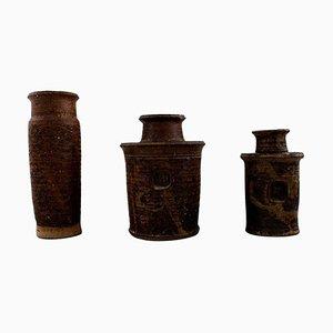 Niels Olufsen Jeppe Thorkelin-Eriksen Vases, 1960s, Set of 3