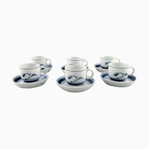 Bing & Grondahl Corinth Coffee Cups with Saucers, Set of 12