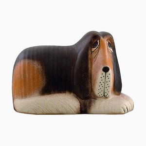 Dog in Glazed Ceramic by Lisa Larson for K-Studio & Gustavsberg
