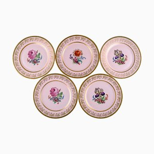 Decorative Plates in Porcelain by Johann Haviland Bavaria, Germany, 1930s, Set of 5