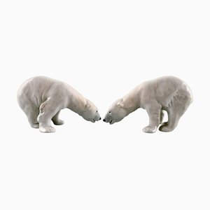Polar Bears from Royal Copenhagen Figure No. 054, 20th Century, Set of 2