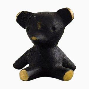 Walter Bosse for Herta Baller Black Gold Line Teddy Bear in Bronze, 1950s
