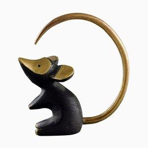 Walter Bosse for Herta Baller Black Gold Line Mouse in Bronze, 1950s