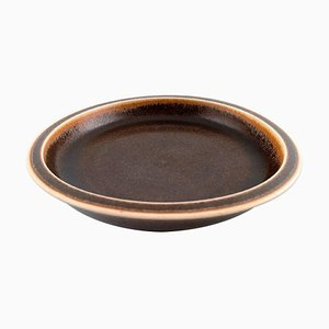 Saxbo Large Ceramic Dish or Bowl in Brown Glaze