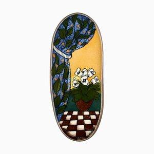 Tafel aus handbemaltem Porzellan von Heljä Liukko-Sundström für Arabic