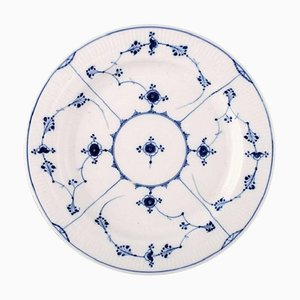 Rare and Antique Royal Copenhagen Blue Fluted Large Round Platter, 19th Century