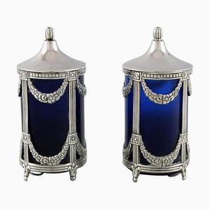 Salt and Pepper Set in Empire Style, Set of 2