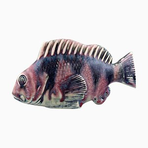 Sven Wejsfelt Fisch aus Steingut mit Glasur