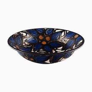 Glasierte Keramik Schale in modernem Design von Kähler, 1930er