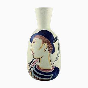 Vase in Glazed Ceramic by Carl-Harry Stålhane for Rörstrand, 1960s