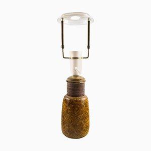 Glasierte Steingut Tischlampe von Kähler, Denmark, 1960er