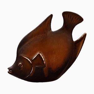 Rörstrand Steingut Fischfigur von Gunnar Nylund
