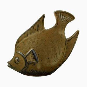 Figura a forma di pesce in gres di Gunnar Nylund