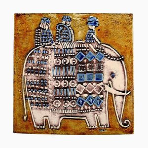 Wandtafel aus Steingut von Lisa Larson für Gustavsberg, 1961