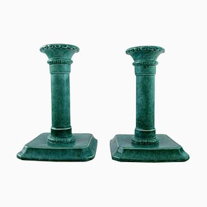 Art Deco Candleholders by Josef Ekberg for Gustavsberg, Set of 2