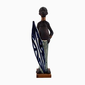 Pottery Figurine of Chief Swedish Design by Rolf Palm