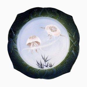 Fish Service Dinner Plate in Porcelain by Arnold Krog for Royal Copenhagen, 1920s