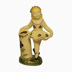 Rare Royal Copenhagen Aluminia Faience Figurine of a Ballerina