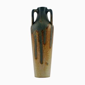 Antique French Ceramic Cauterets and Conical Vase, 1910