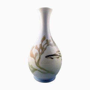 Royal Copenhagen Art Nouveau Vase Decorated with Fish