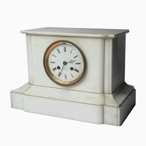 French White Marble Clock, 1900s