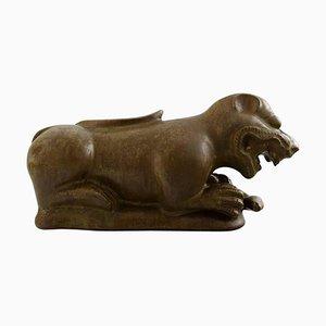 Löwe aus Keramik von Fidschi Inseln von Jacob E. Bang für Nymølle, 1960er