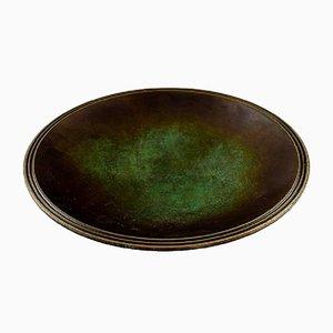 Just Andersen Bronze Bowl Dish, 1930s