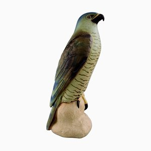 B&G Large Falcon Figurine in Ceramic Number 1892 by Niels Nielsen
