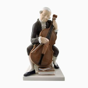 Bing & Grondahl Musiker oder Cellist 2032 Man with Cello