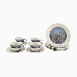 Tuuli Teacups with Saucers and Accompanying Plates from Arabia, 1960s, Set of 12