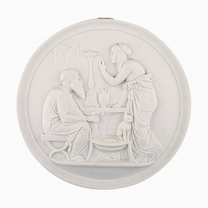 Bing & Grondahl Biscuit Plate by Thorvaldsen, 1880s