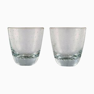 Vodka Glass in Clear Art Glass by Tapio Wirkkala for Iittala, 1960s, Set of 2