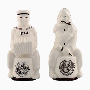 Porcelain Salt and Pepper Set with Advertising Logo for HempelSet from Alumina, Set of 2