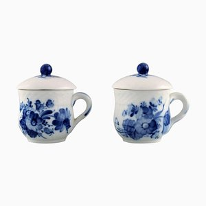 Blue Flower Braided Cream Cups from Royal Copenhagen, 1960s, Set of 2