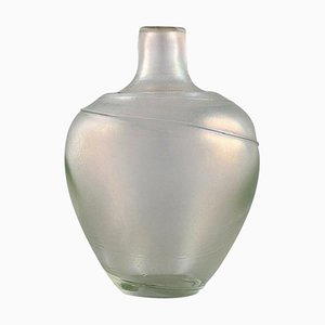 Vase in Mouth-Blown Art Glass by Bertel Vallien for Kosta Boda, Sweden, 1980s