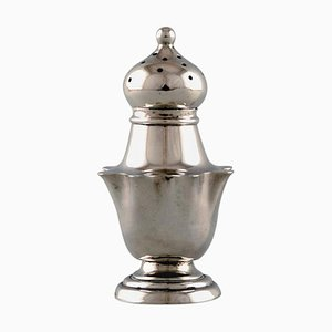 English Pepper Shaker in Silver, Late 19th Century