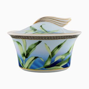 Gianni Versace for Rosenthal Jungle Porcelain Sugar Bowl with Gold Decoration