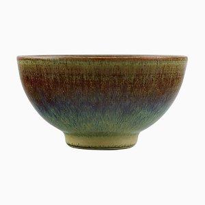Schale aus glasierter Keramik von Anders Dolk, Hedemora, Schweden