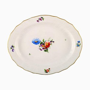 Royal Copenhagen Light Saxon Flower Oval Serving Dish